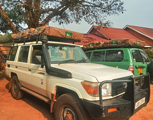 roof top tents in Rwanda
